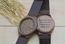 Mens Wooden Watches Engraved | Anniversary Gift for Him