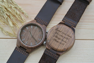 Mens Wood Watch Engraved | Anniversary Gift for Him