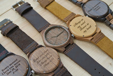 Mens Wood Watches Engraved | Anniversary Gift for Him