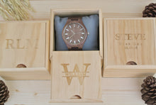 Box of Mens Wooden Watch Engraved | Anniversary Gift for Him
