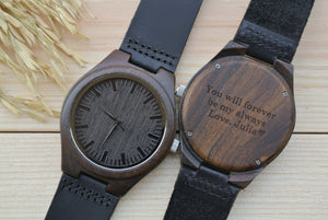 Mens Wooden Watches Engraved | Husband Gifts