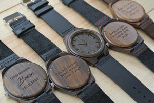 Mens Wood Watch Engraved | Husband Gifts