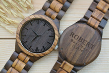 Personalized Engraved Wooden Watch for Men | Groomsmen Gifts