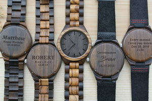 Personalized Engraved Wood Watch for Men | Groomsmen Gifts