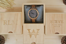 Box of Personalized Engraved Wooden Watch for Men | Groomsmen Gifts