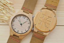 Personalized Mens Wooden Watch Engraved | Birthday Gift for Him