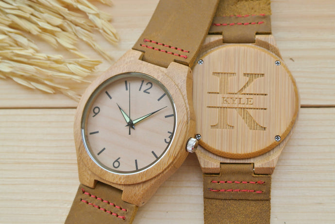 Personalized Mens Wooden Watches Engraved | Birthday Gift for Him