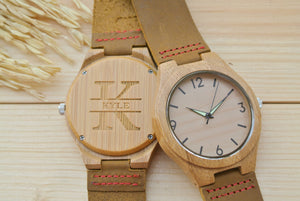 Personalized Mens Wood Watch Engraved | Birthday Gift for Him