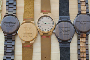 Personalized Mens Wood Watches Engraved | Birthday Gift for Him