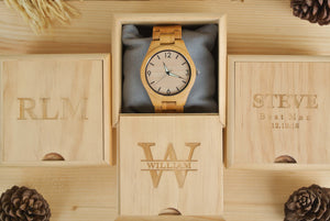 Box of All Bamboo [No.] Wooden Watches | Perfect Gifts for Him