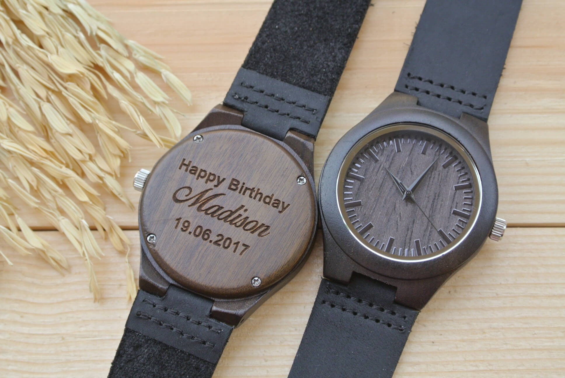 Womens Wooden Watch Engraved | Gifts for Girlfriend