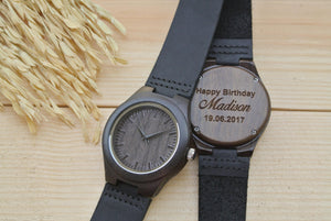 Womens Wood Watch Engraved | Gifts for Girlfriend