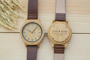 Womens Wooden Watch Engraved | Anniversary Gifts for Her