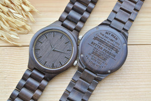 Personalized Engraved Wooden Watches for Men WW4401