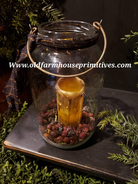 #PPJWV Primitive Jar With Potpourri