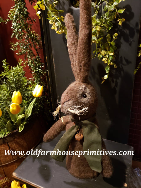 #LKB11 Primitive Chocolate Brown Rabbit (Made IN USA) BACK IN STOCK!