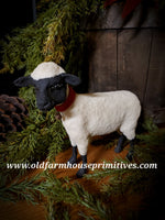 #CY140 Craig Yenke Christmas Black Face Sheep 🐑 (Made In USA)