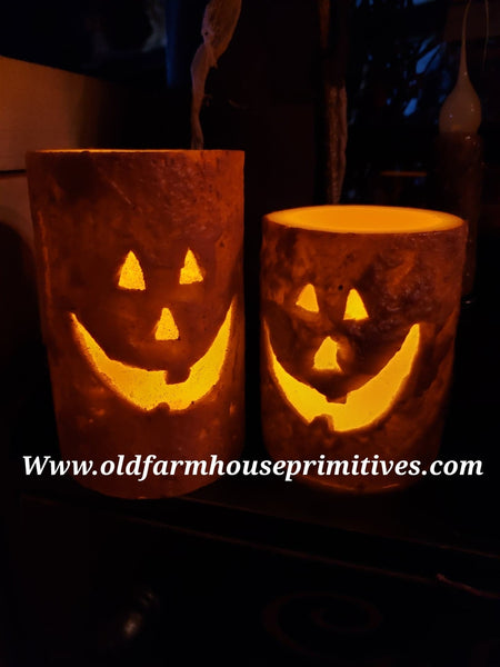 #JOLC2 Jack-O-Lantern 🎃 Pillar Candle *Back In Stock!