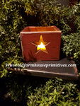 "#PPWSBR Primitive ""Red"" Star Wood Box   (Made In USA)"