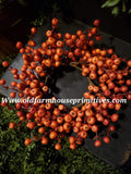 #LHHF27 Orange Harvest Cranberries Candle Ring