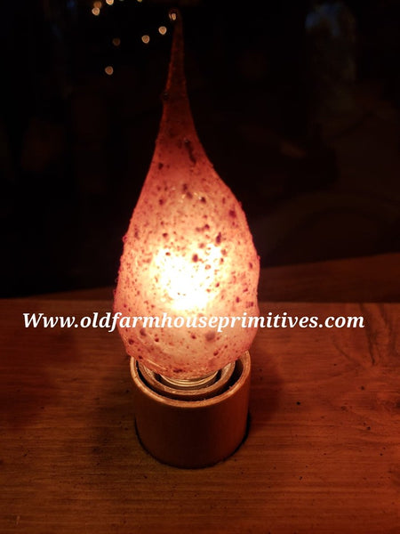 "#ASPSSB Primitive Dipped ""Grubby"" Cinnamon Scented Electric Grubby Bulb"
