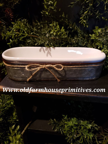 #SD7 Farmhouse Bar Soap-Sponge Holder with Galvanized Caddy