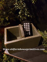 "#PPWM14b Primitive ""Sage Green"" Remote Control Box (Made In USA)"