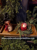 "#PPWM1 Primitive Large ""Mustard"" Wood Candle Tray"