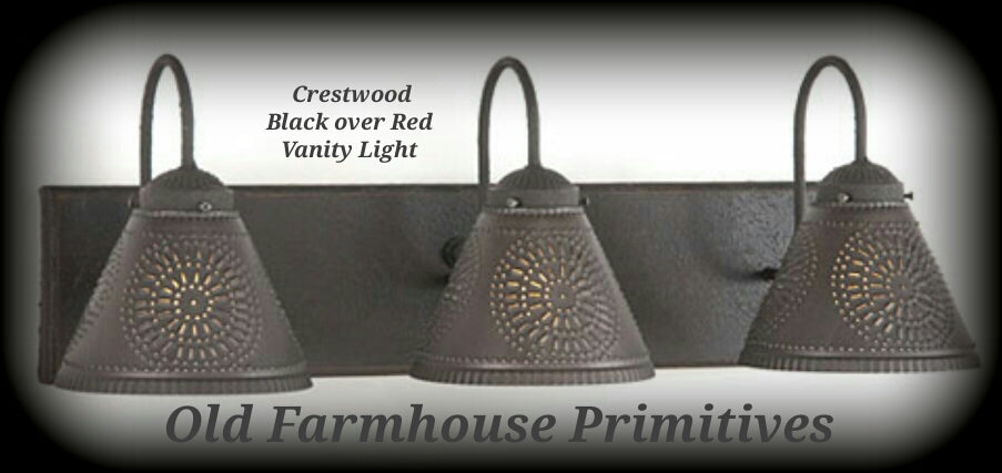 Crestwood Primitive Bathroom Vanity Light Old Farmhouse