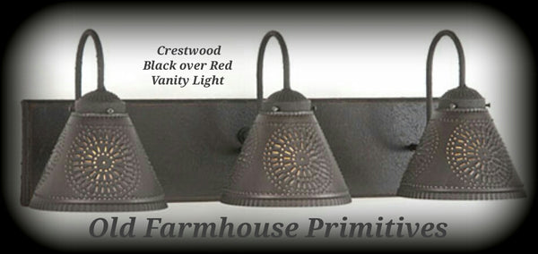 Crestwood Primitive Bathroom Vanity Light