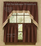 #PSV3 Primitive Curtains Sturbridge Wine Live Laugh Love