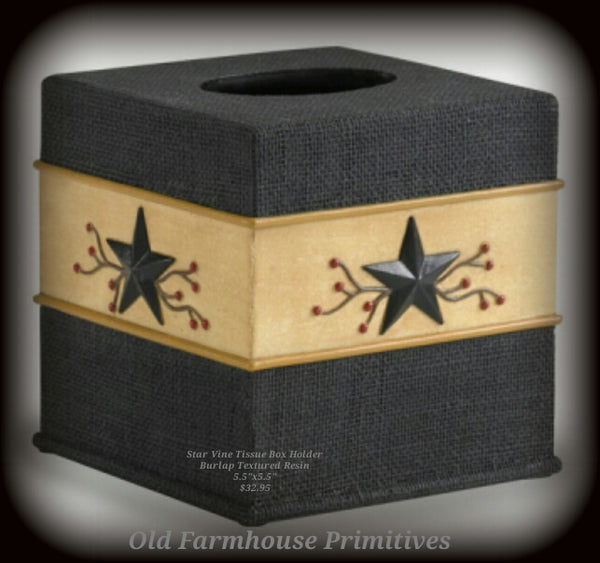 #TH11 Primitive Star Vine Resin Tissue Holder