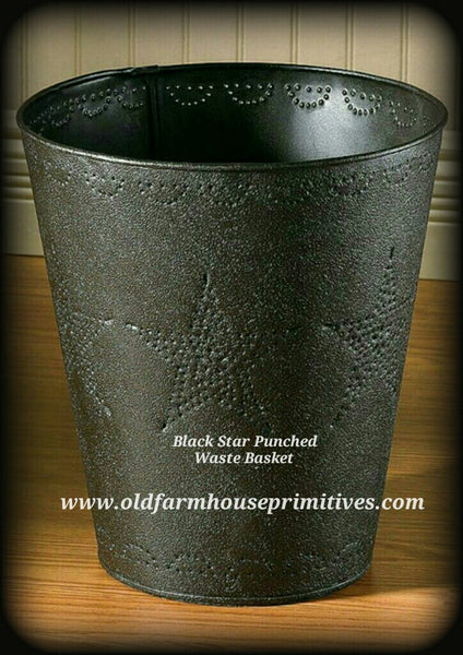 #STC Primitive Star Punched Waste Basket