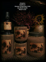 #SF1 Primitive Sunflower Soy Blend Candle (Made In USA)