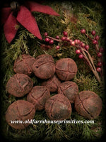 #BWB12 Primitive Blackened Beeswax Jingle Bells (Made IN USA)