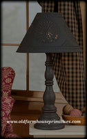 #9187 Primitive Davenport Lamp in Hartford Colors (Made In USA)