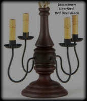 #9188 Primitive Jamestown Lamp in Hartford Colors (Made In USA)