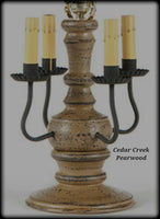 #836 Primitive Cedar Creek Lamp in Americana Colors (Made In USA)