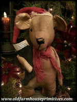 #LT32 Primitive Cookie Bear W/ Note To Santa (Made In USA)