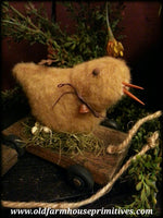 #MQ5 Primitive Chicken Small Pull Toy (Made In USA)