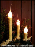 "#RJ2 Primitive Electric ""Burnt Ivory"" Candlestick (Made In USA)"