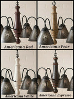 #9197 Crestwood Wooden Chandelier in Americana Colors (Made In USA)