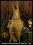 #NA1 Primitive Standing Rabbit Holding Carrot (Made In USA)