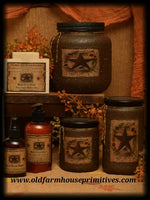 "#HS9 Primitive Soy Blend ""Barn Star Spice"" Candle (Made In USA)"