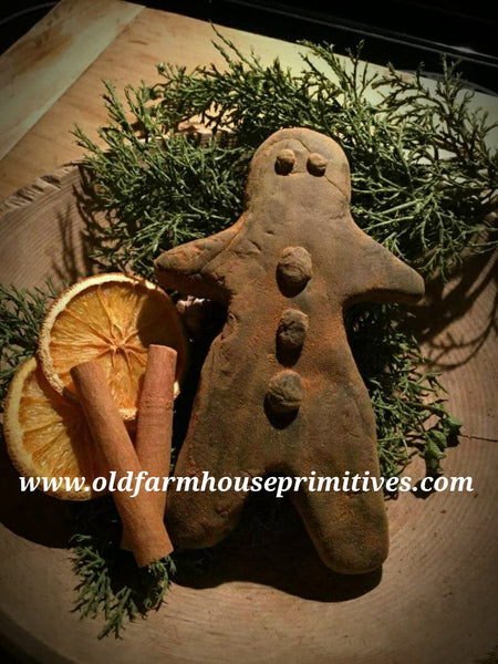 #PBBW445 Primitive Blackened Beeswax Gingerbread Man   (Made In USA)