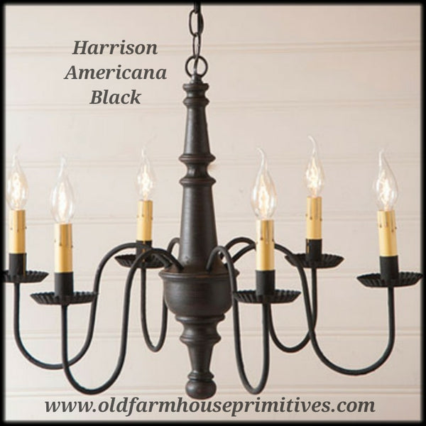 #9156T Harrison Wooden Chandelier Americana Series (Made In USA)
