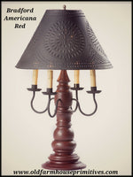 #9196X Bradford Lamp with Shade In Americana Colors (Made In USA)