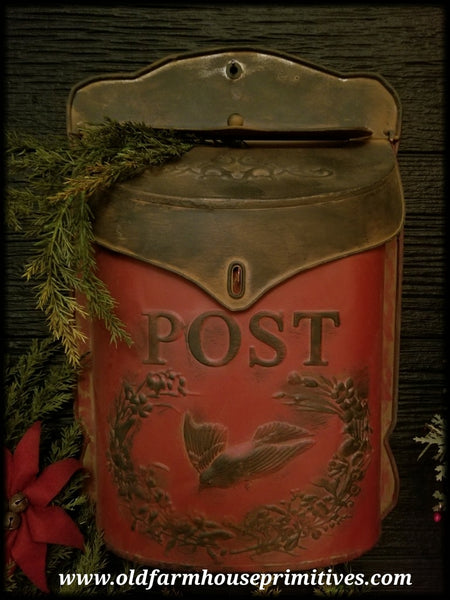 #PMB1 Primitive Antique Reproduction Metal Post Mail Box