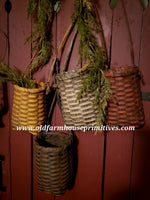 #PBBG2 Primitive Rag Handle Baskets (Made In USA)