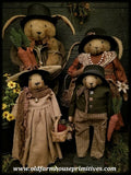 "#PC27 Primitive ""Spring"" Rabbit Family ""The Hares"" (Made In USA)"